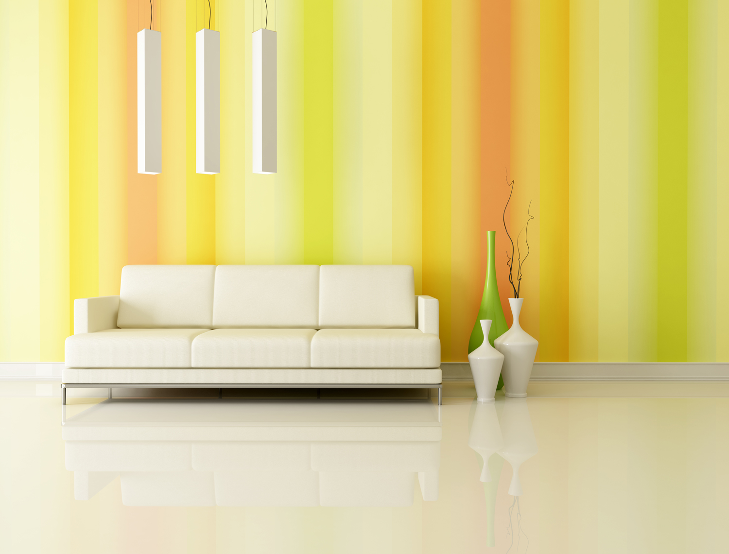 bright and multicolr living room